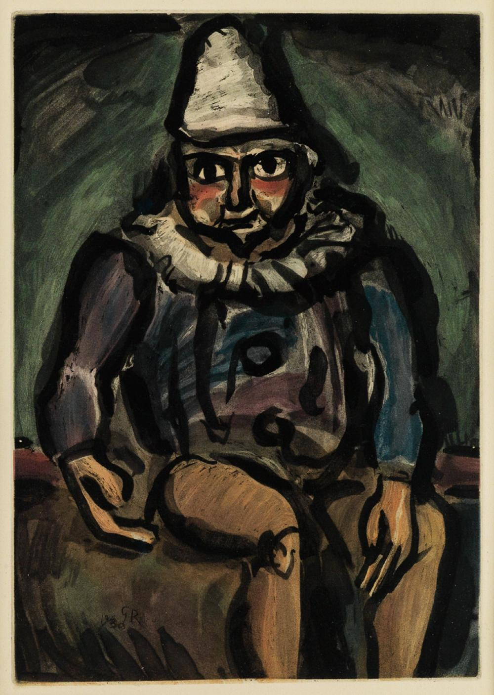GEORGES ROUAULT Clown assis.