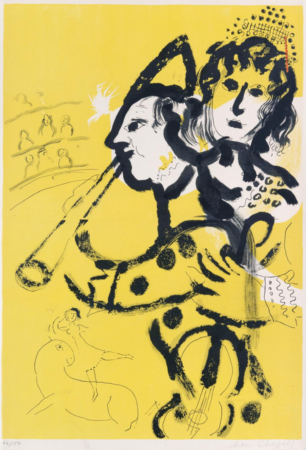 MARC CHAGALL Le Clown Musicien.
