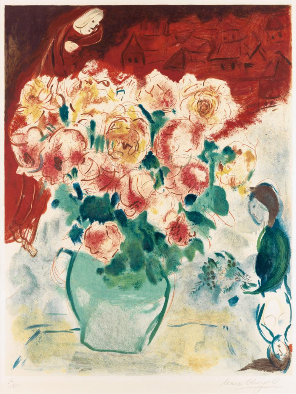 MARC CHAGALL (after) Bouquet