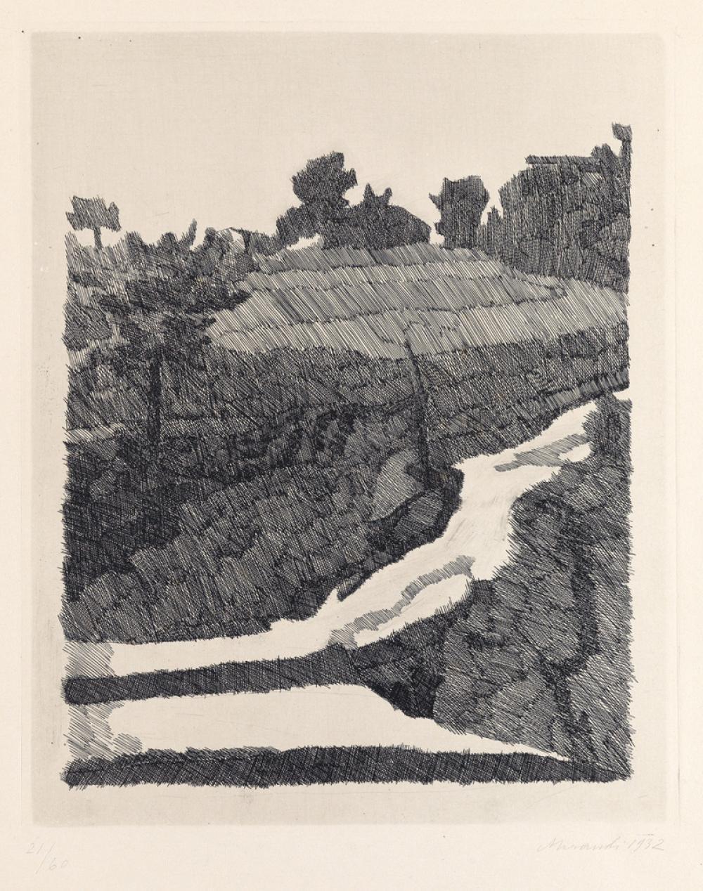 GIORGIO MORANDI Paesaggio di Grizzana.