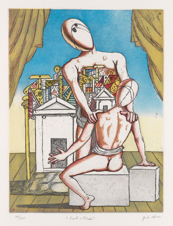 GIORGIO DE CHIRICO Oreste e Pilade, 2e version.