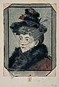 EUGÈNE DELÂTRE Tête de la Parisienne., Eugene  Delatre, Click for value