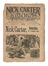 CARTER, NICK. [Various uncredited authors]. Large Group of Nick Carter Detective Story Issues.