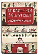 (CHILDREN'S LITERATURE.) Davies, Valentine. Miracle on 34th Street.