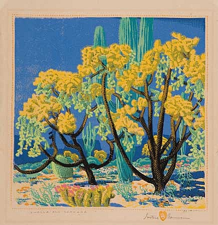 GUSTAVE BAUMANN Cholla and Sahuaro.