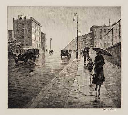 MARTIN LEWIS Rainy Day, Queens.