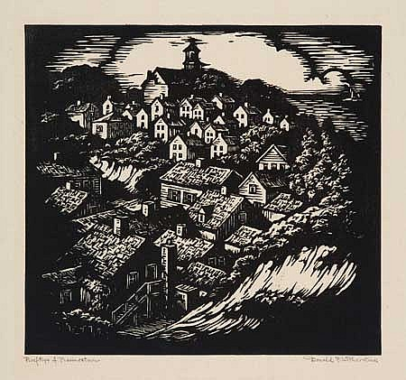 DONALD WITHERSTINE Group of 11 woodcuts.