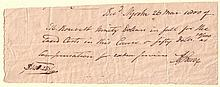 BURR, AARON. Autograph Document Signed,