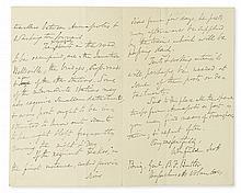 (CIVIL WAR.) SCOTT, WINFIELD. Autograph Letter Signed, to Gen. Benjamin F. Butler,
