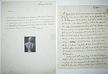 LAFAYETTE, GILBERT DU MOTIER; MARQUIS DE. Two Autograph Letters Signed,
