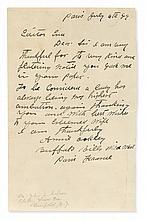 OAKLEY, ANNIE. Autograph Letter Signed,