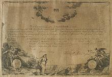 WASHINGTON, GEORGE. Partly-printed vellum Document Signed,