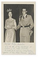 BAUDOUIN; KING OF THE BELGIANS. Photograph Signed and Inscribed, in Spanish: