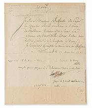 DU BARRY, JEANNE BÉCU; COMTESSE. Document Signed,