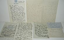 (ENTERTAINERS.) Group of 7 items Signed, or Signed and Inscribed, by stage actors of the 19th and 20th centuries.