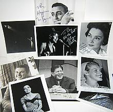 (ENTERTAINERS.) Group of 9 Photographs Signed and Inscribed,