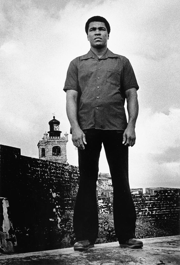 DAVID ACEVEDO (1960(?) - ) Muhammad Ali at El Morro Castle, San Juan, Puerto Rico.
