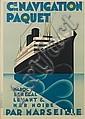 MAX PONTY (1904-1972). CIE DE NAVIGATION PAQUET /