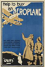 BERT THOMAS (1883-1966). HELP TO BUY AN AEROPLANE. 1918. 29x20 inches, 75x51 cm.