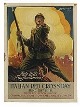 LUCIANO ACHILLE MAUZAN (1883-1952). FATE TUTTI IL VOSTRO DOVERE! / ITALIAN RED CROSS DAY. Circa 1917. 25x18 inches, 63x47 cm.
