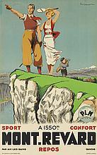 PAUL ORDNER (1900-1969). MONT - REVARD. Circa 1935. 39x24 inches, 99x62 cm. Lafayette, Paris.