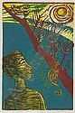 MARTIN BAROOSHIAN Mid-Day Sun. Color woodcut, 1951. 320x210 mm; 12x8 1/4 inches, full margins. Signed, titled, dated and numbered 9/30 in pencil, lower margin. A fine impression with bright colors., Martin Barooshian, Click for value