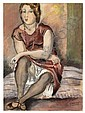 EMIL GANSO Portrait of a Seated Woman., Emil Ganso, Click for value