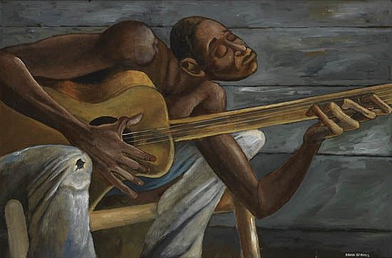 Image result for Ernie Barnes art musicians