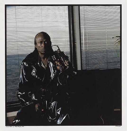 ANTHONY BARBOZA (1944 -   ) Miles Davis in Malibu, CA.