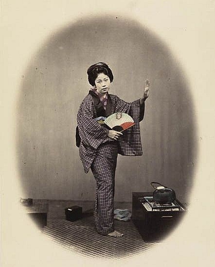 BEATO, FELICE (1832-1909) An album containing 17 artfully hand-colored photographs of Japan, all occupational views,