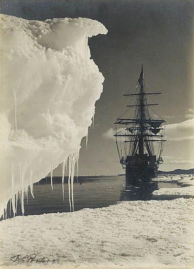 PONTING, HERBERT (1870-1935) The Terra Nova at the Ice Foot, Cape Evans.