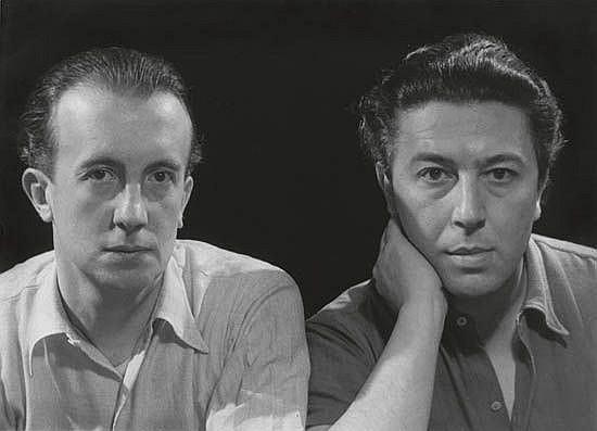 MAN RAY (1890-1976) Paul Eluard and André Breton.
