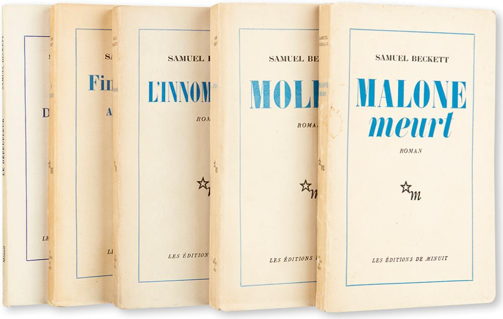 BECKETT, SAMUEL. Group of 5 Éditions de Minuit.