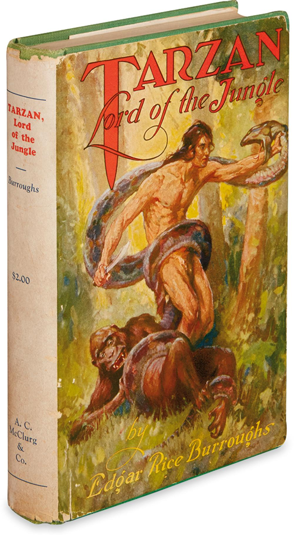 BURROUGHS, EDGAR RICE. Tarzan, Lord of the Jungle.