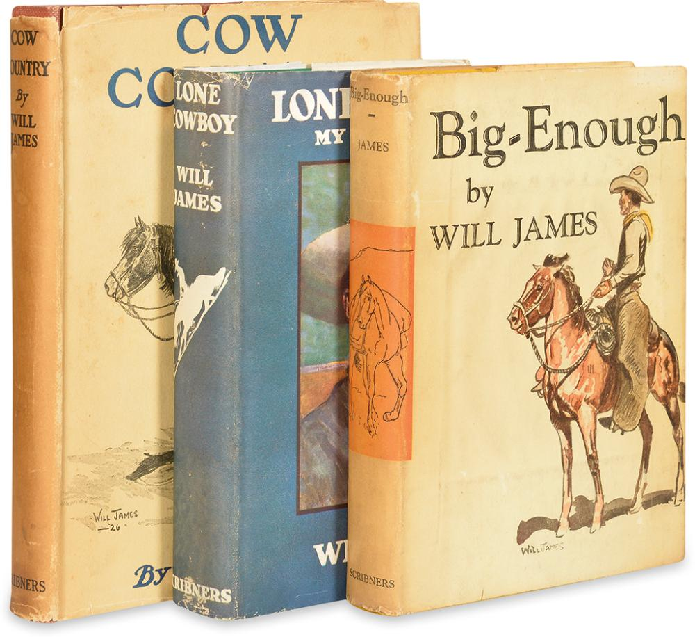 (CHILDREN'S LITERATURE.) JAMES, WILL. Group of 3 First Editions.