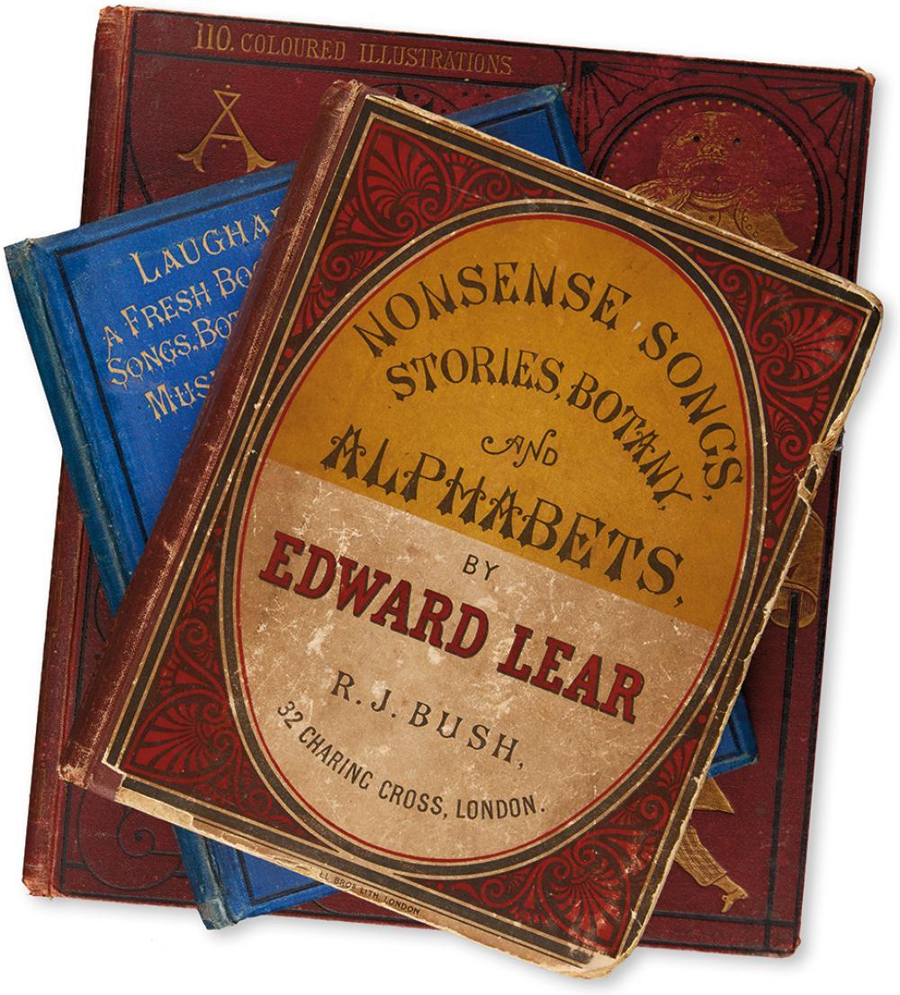 (CHILDREN'S LITERATURE.) LEAR, EDWARD. Group of 3 Nonsense Books.