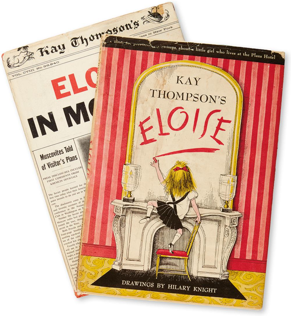 (CHILDREN'S LITERATURE.) THOMPSON, KAY. Eloise * Eloise in Moscow.