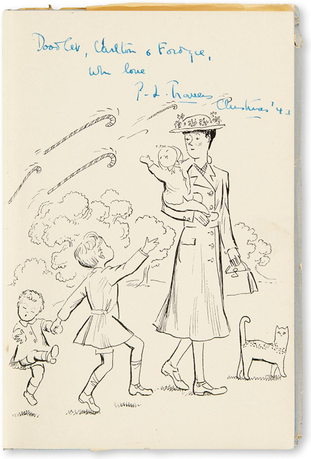 (CHILDREN'S LITERATURE.) TRAVERS, P.L. Mary Poppins Comes Back * Mary Poppins Opens the Door.