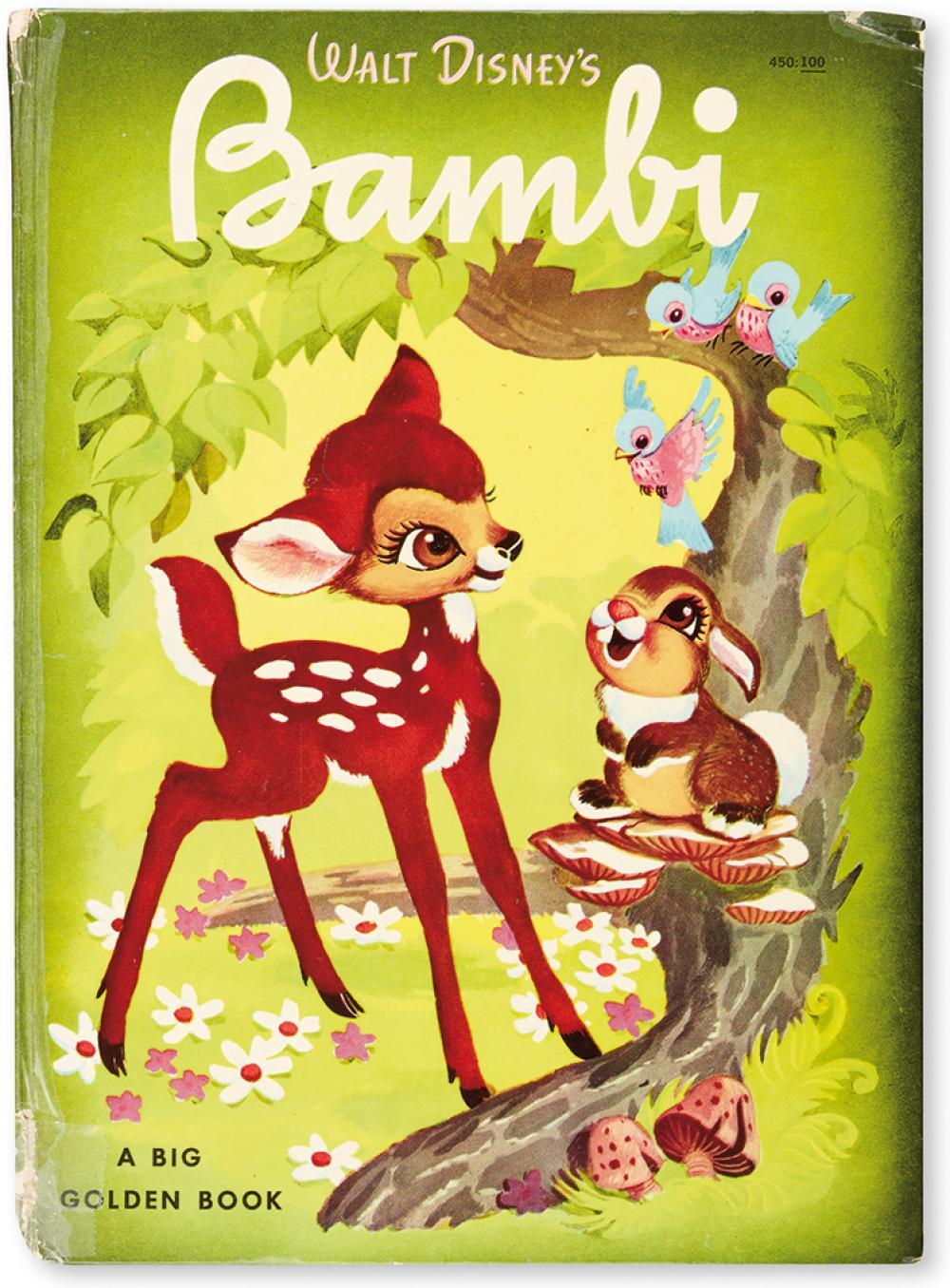 (CHILDREN'S LITERATURE.) [WALT DISNEY STUDIOS.] Walt Disney's Bambi.