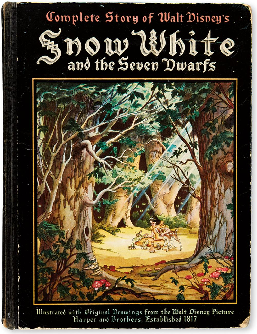 (CHILDREN'S LITERATURE.) [WALT DISNEY STUDIOS.] Walt Disney's Snow White and the Seven Dwarfs. Adapted from Grimm's Fairy Tales.