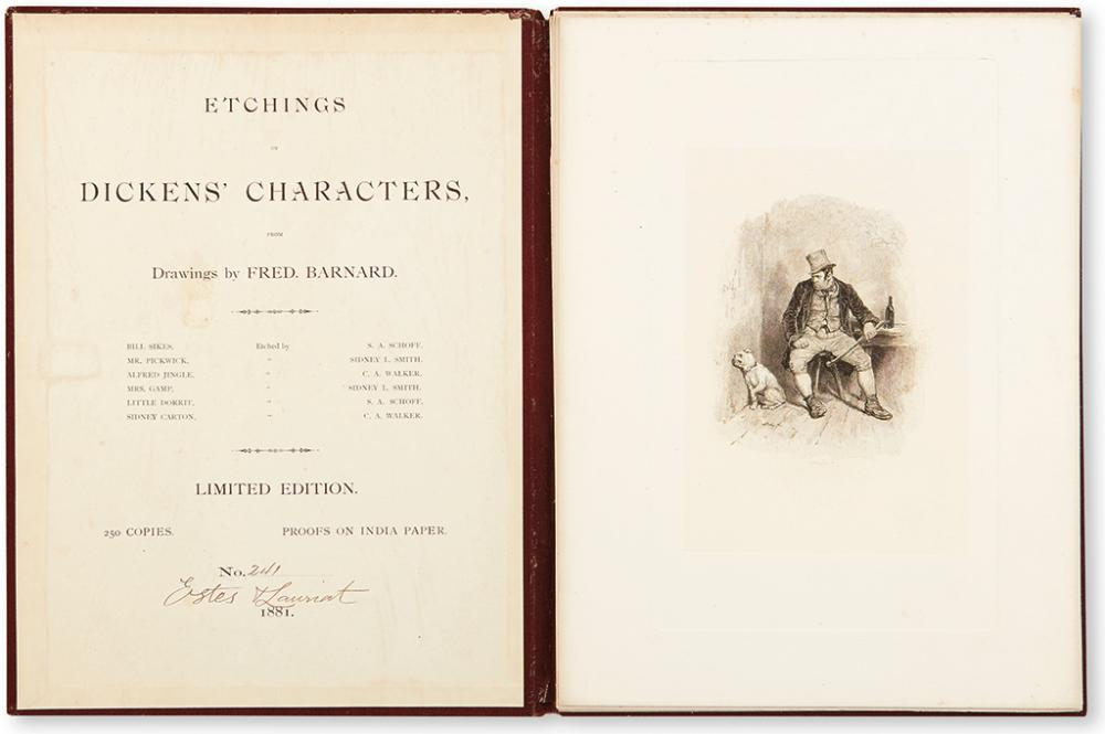 [DICKENS, CHARLES.] Barnard, Fred (illus.). Etchings of Dickens' Characters.