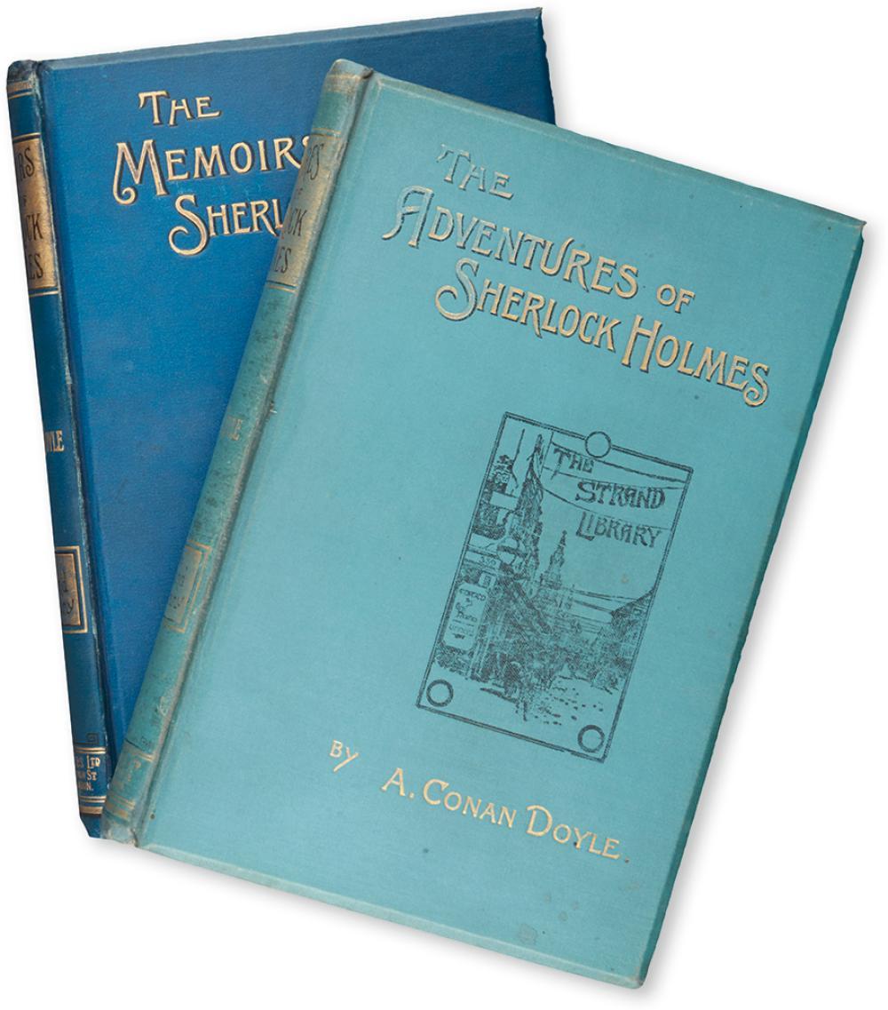 DOYLE, ARTHUR CONAN. Adventures of Sherlock Holmes * The Memoirs of Sherlock Holmes.