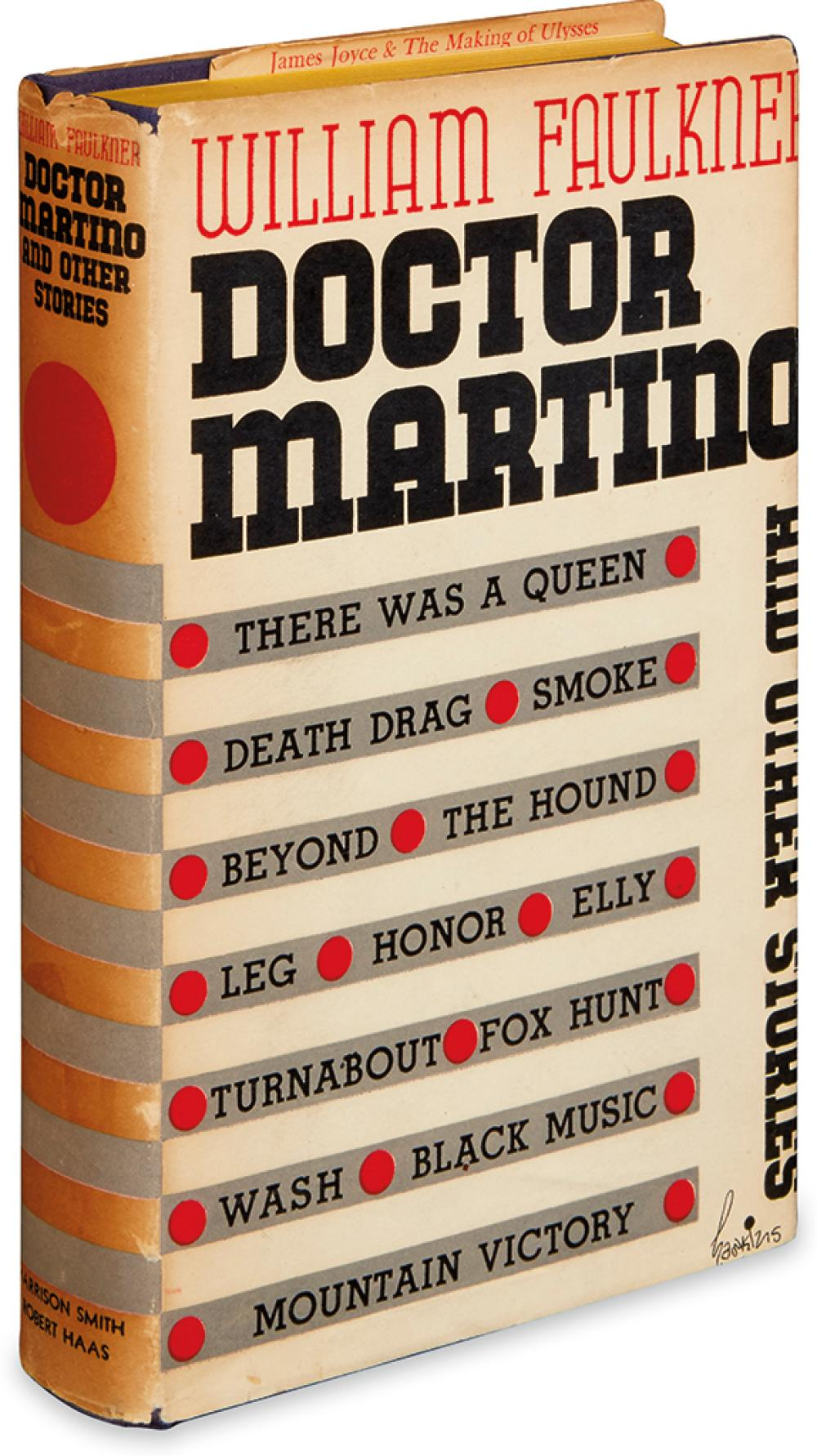 FAULKNER, WILLIAM. Doctor Martino and Other Stories.
