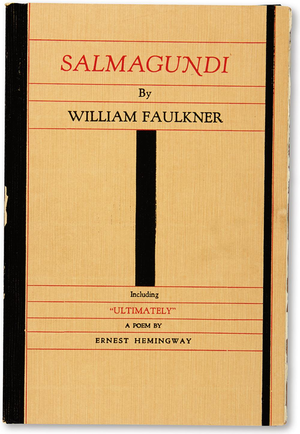 FAULKNER, WILLIAM. Salmagundi and a Poem by Ernest Hemingway.