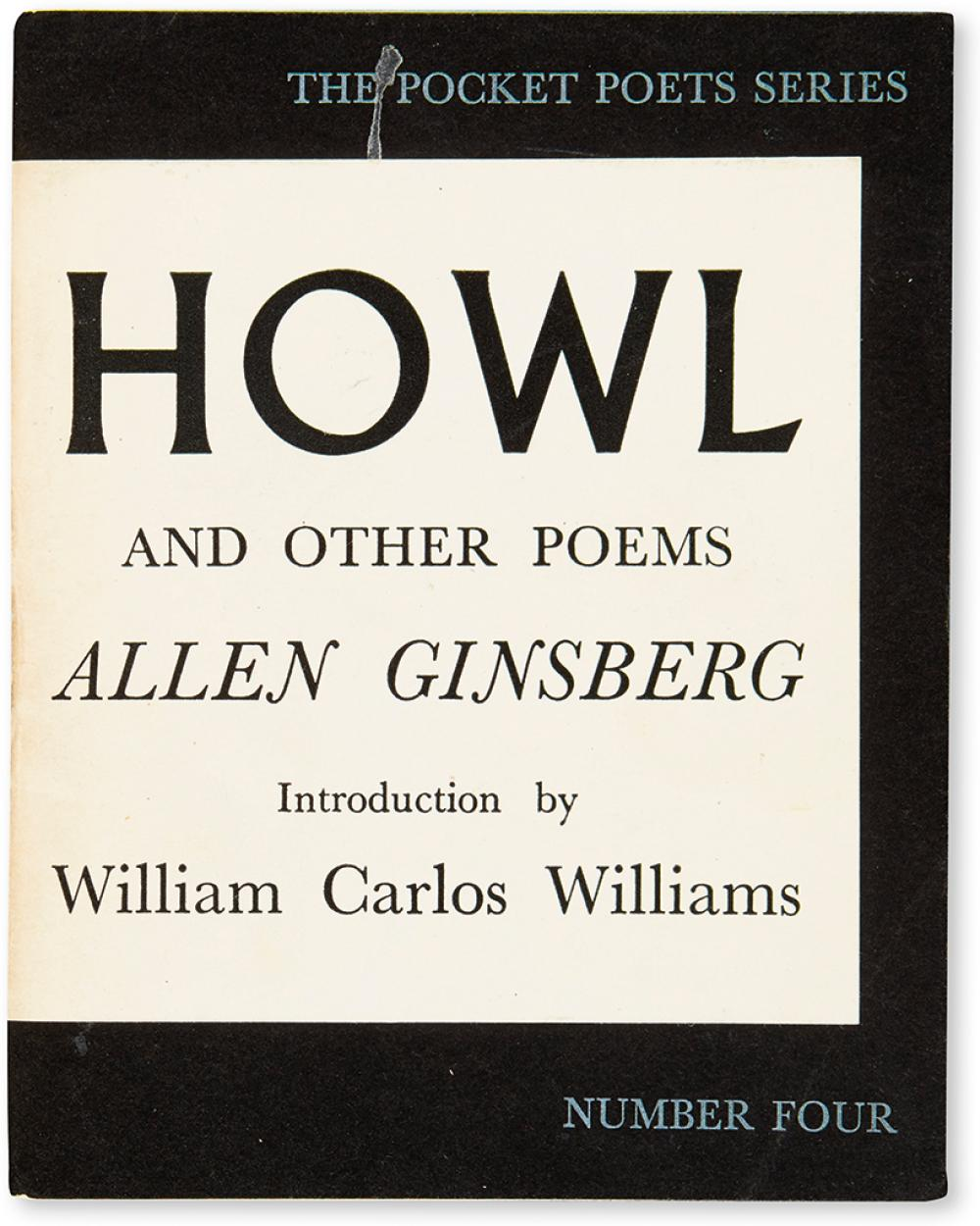 GINSBERG, ALLEN. Howl and Other Poems.