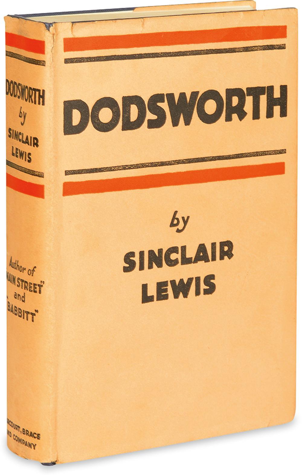 LEWIS, SINCLAIR. Dodsworth.