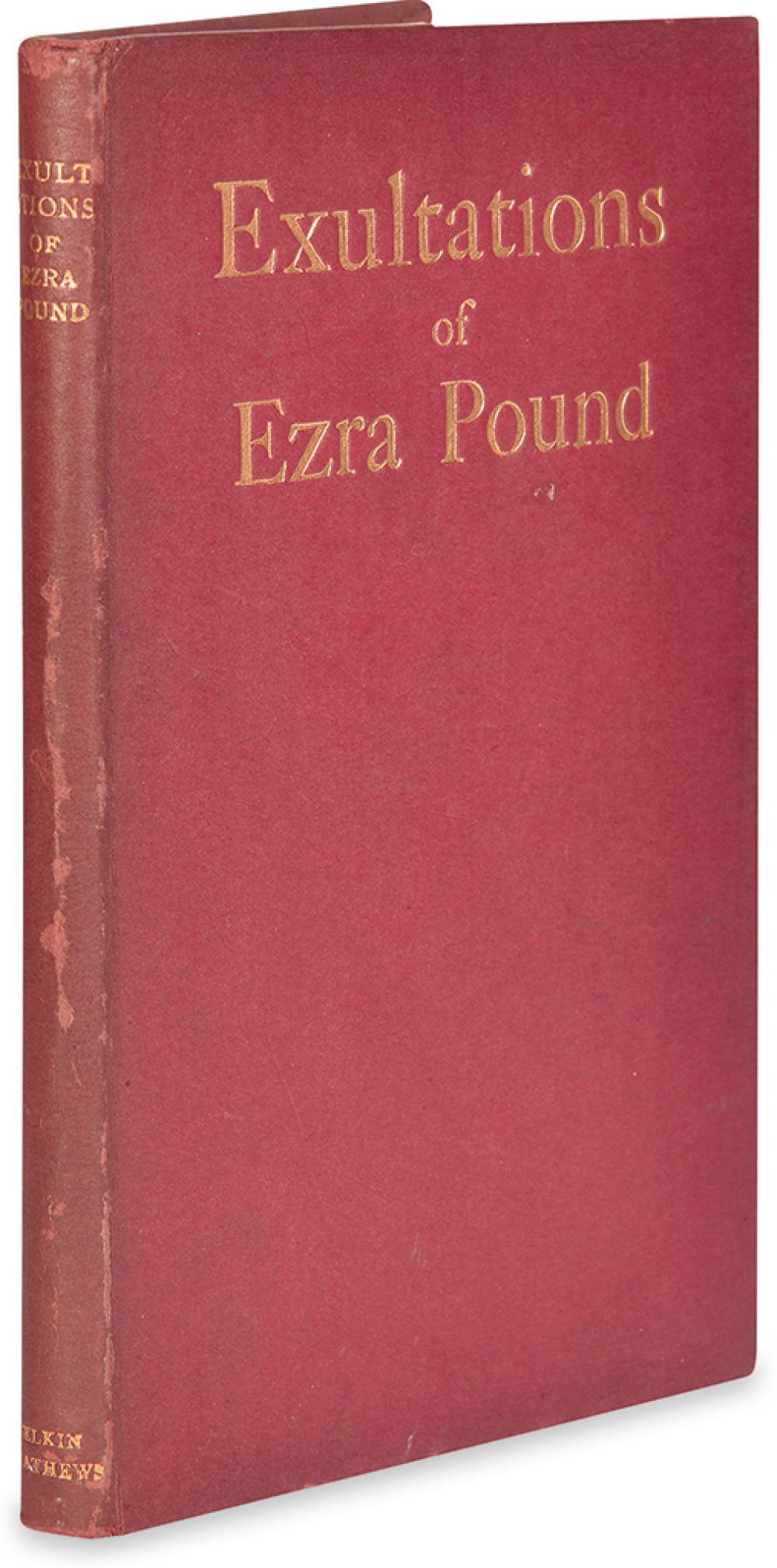 POUND, EZRA. Exultations.