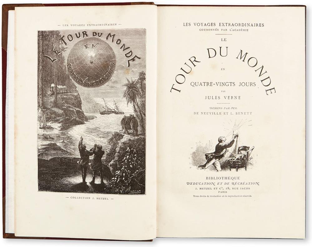 VERNE, JULES. Le Tour du Monde en Quatre-Vignts Jours.