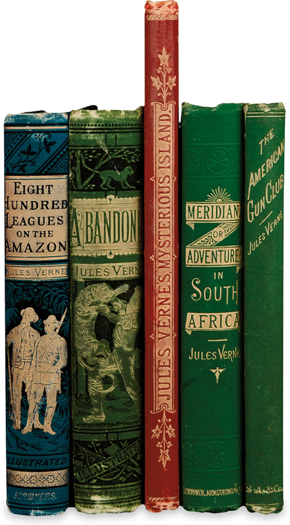 VERNE, JULES. zGroup of 5 Volumes.