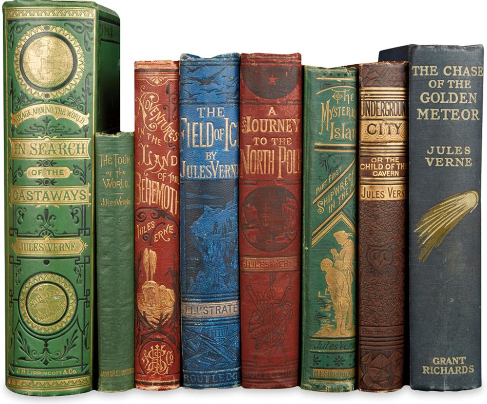 VERNE, JULES. Group of 8 volumes.